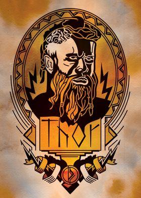 Thor Norse god portrait
