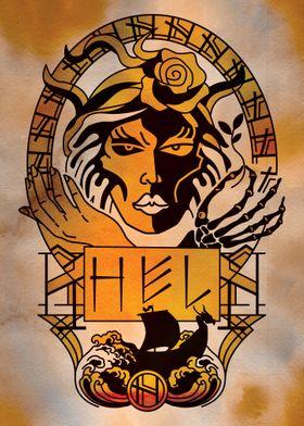 Hel Norse Goddess portrait