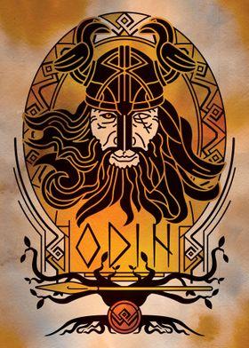 Odin Norse God portrait
