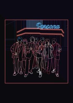 BTS Boy with luv line art