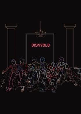 BTS Dionysus line art