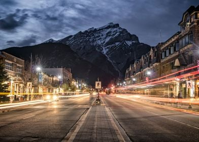 Blue Hour on Banff Ave
