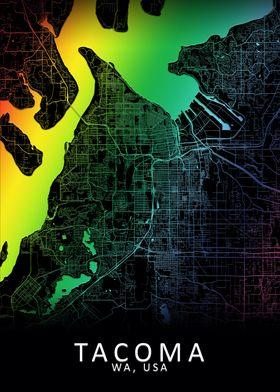 Tacoma WA USA City Map