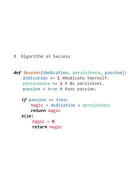 Algorithm of Success Py3