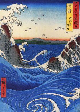 Whirlpool in Rough Sea