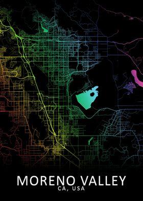 Moreno Valley USA City Map