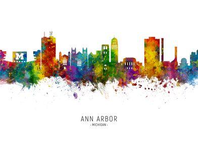 Ann Arbor Michigan Skyline