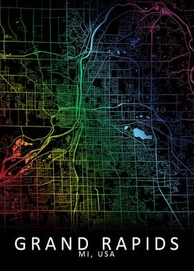 Grand Rapids USA City Map