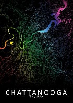 Chattanooga USA City Map