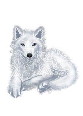 Tribal Wolf Spirit Animal