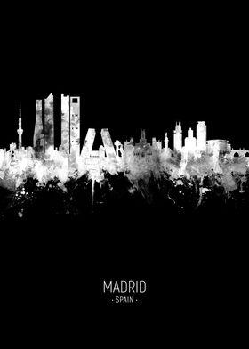 Madrid Spain Skyline
