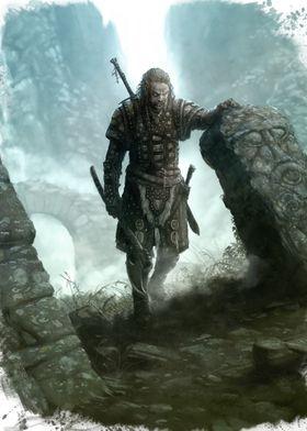 Carved stones warrior