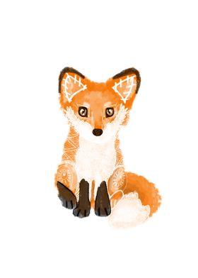 Tribal Fox Spirit Animal