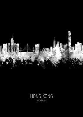Hong Kong China Skyline