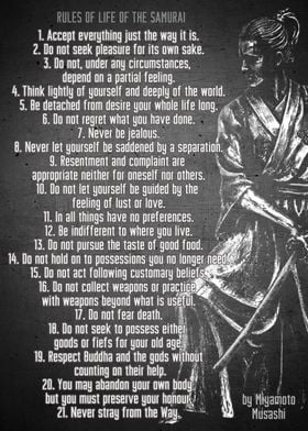 Rules of life of Samurai