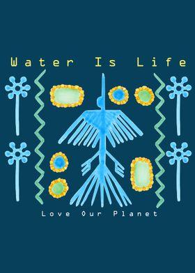 Water Is Life Vertical