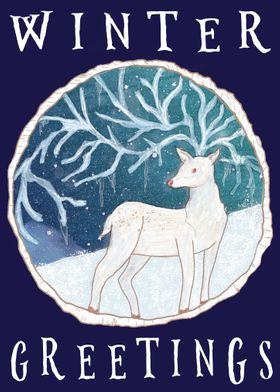 Icicle Winter Reindeer