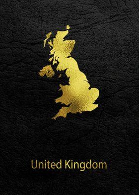 Golden Map Art united king