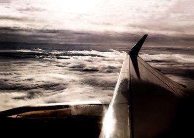Between cloud layers plane