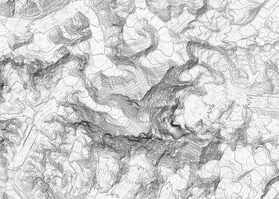 Mount Everest Topo Map