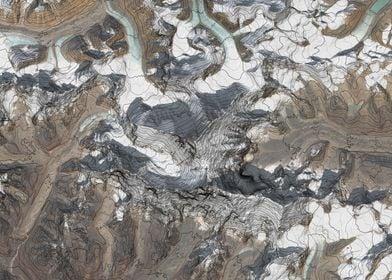 Mount Everest Terrain Map