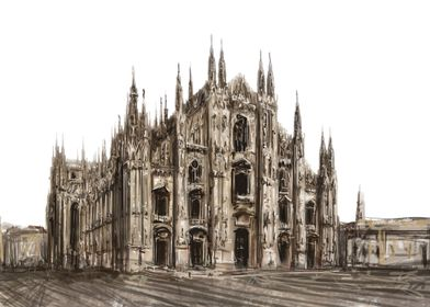 Milan Cathedral paint1