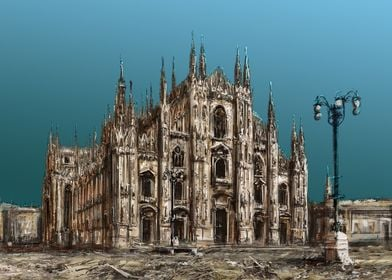 Milan Cathedral paint2