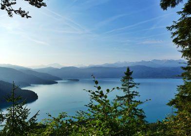 Lake Walchensee misty