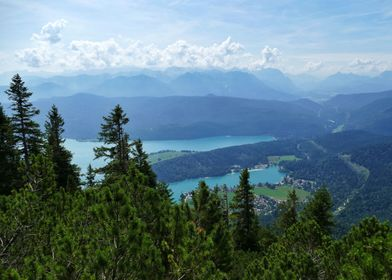 Walchensee from top