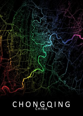 Chongqing China City Map