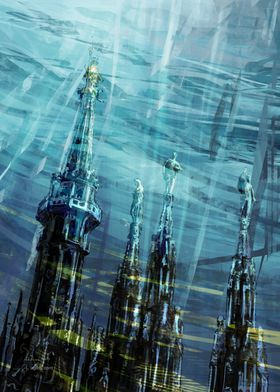 Cathedral spires paint3