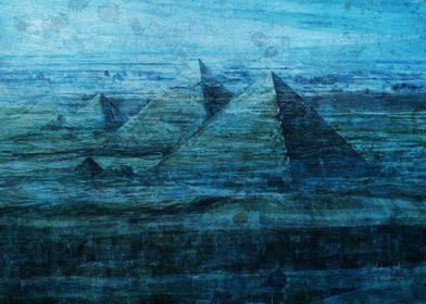 Giza pyramids sea