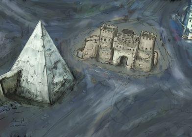 Pyramid of Cestius paint
