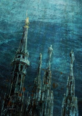 Cathedral spires sea