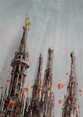 Cathedral spires paint2