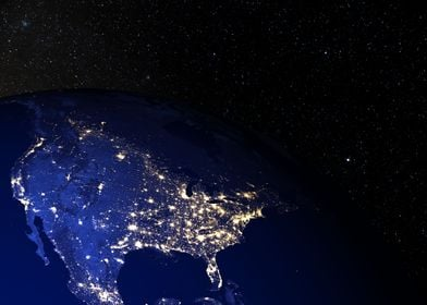 North America at night