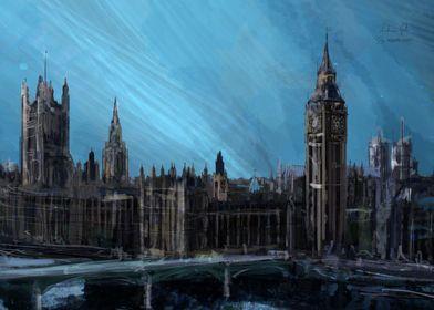 London landscape painting