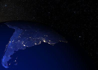 South America at night 2