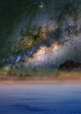 Milky Way over the clouds