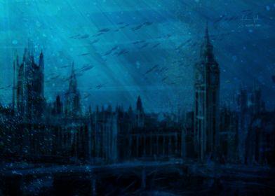 London landscape sea