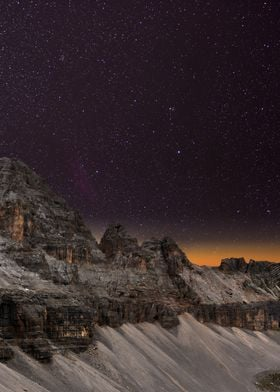 Night Sky and the Mountain