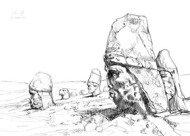 Nemrut drawing
