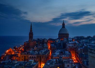 Valletta in the evening