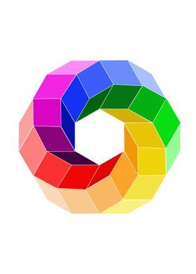 3d illusion color wheel