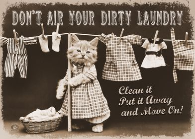 Vintage Dirty Laundry Cat