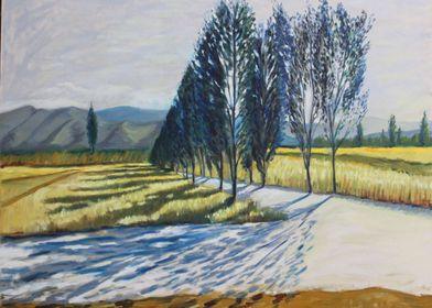 Blue trail trees