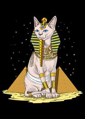 Egyptian Sphynx Cat God