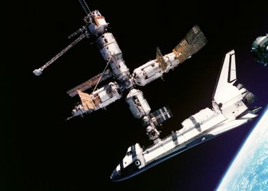 Space Shuttle And ISS