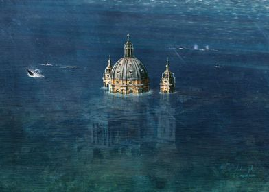 Basilica Superga submerged