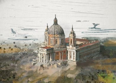 Basilica Superga painting